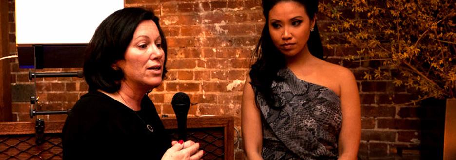 Kelly Salerno & Veronica De La Cruz at Raise A Glass Benefit
