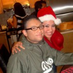 Veronica De La Cruz and her brother, Eric, at the holidays
