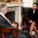 Foundation founder Veronica De La Cruz meets with Senator Harry Reid